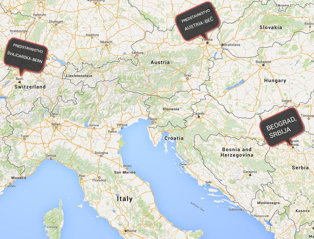 mapa firme u evropi